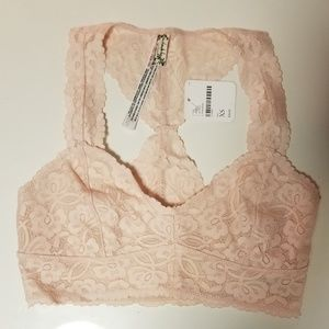 NWT Rose Pink Lace Bralette Free People, XS